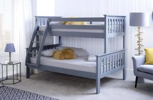 Aaron Triple Bunk Bed with Mattress