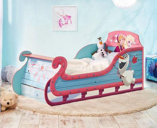 Disney Frozen Toddler Sleigh Bed with underbed storage