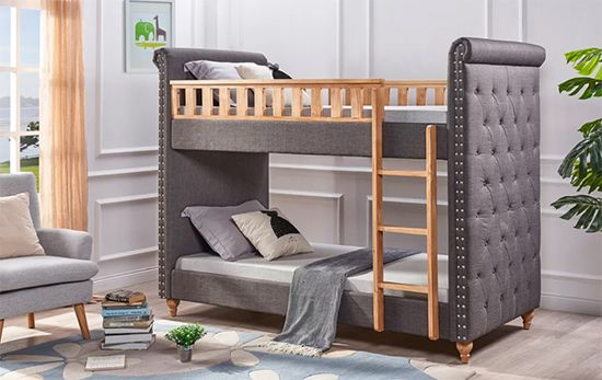 Isaiah Single Upholstered Bunk Bed