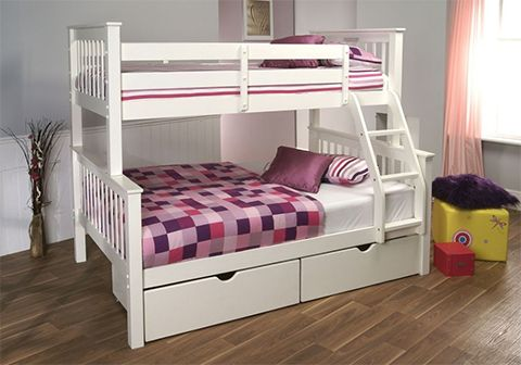 Limelight Pavo White High Sleeper Triple Bunk Bed