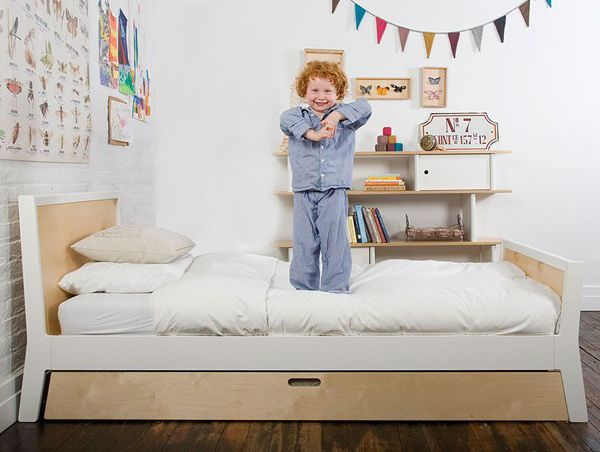 Oeuf Sparrow Single Bed with Trundle