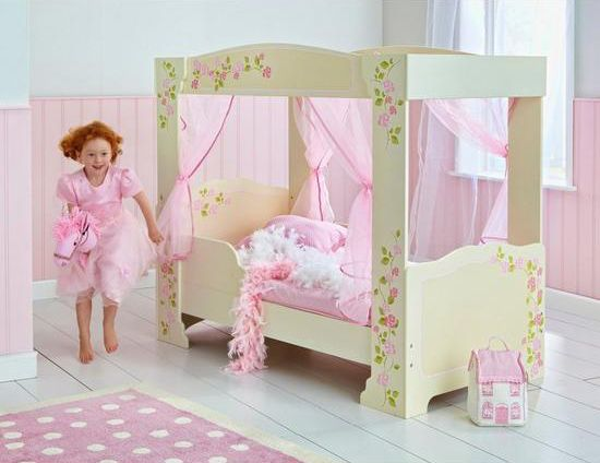 Rose Four Poster Toddler Bed