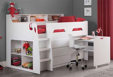 Julien Bowen mid sleeper bed with desk