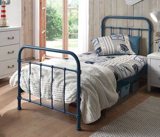 New York Metal Kids Bed in Blue