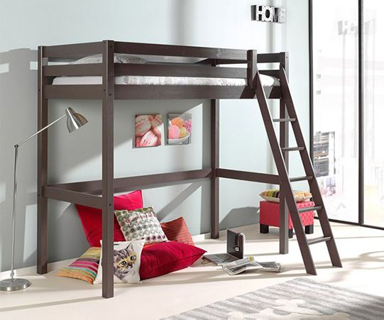 Pino High Sleeper with Slanted Ladder