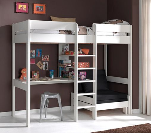 Pino Kids High Sleeper with Sofa Bed