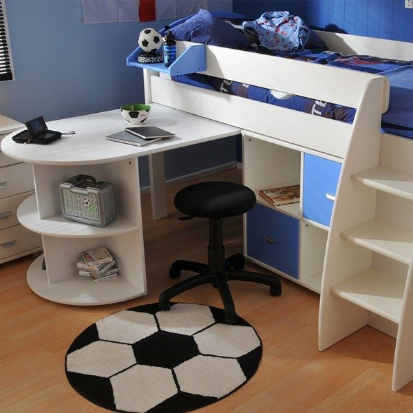 Stompa Rondo-Midsleeper Bed-with-Pullout-Desk