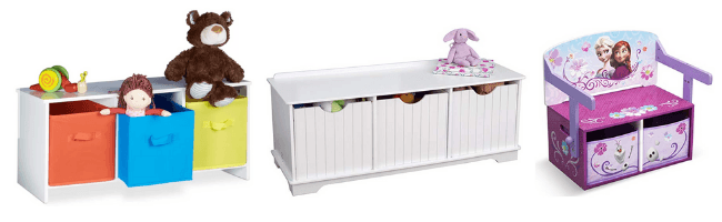 kids storage benches