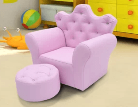 Girl's pink arm chair