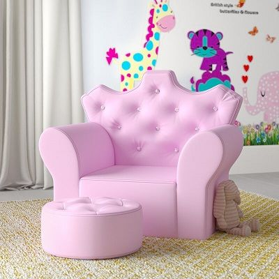 Zev Children's Club Chair and Ottoman