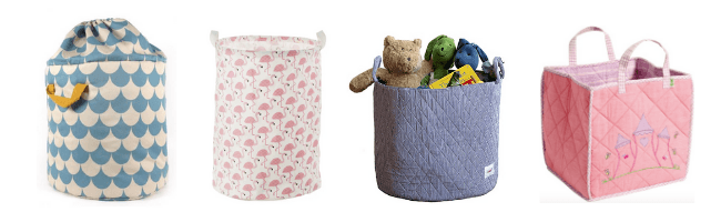 kids fabric storage bags
