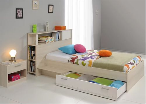 Abbie Single Bed Frame with Drawer