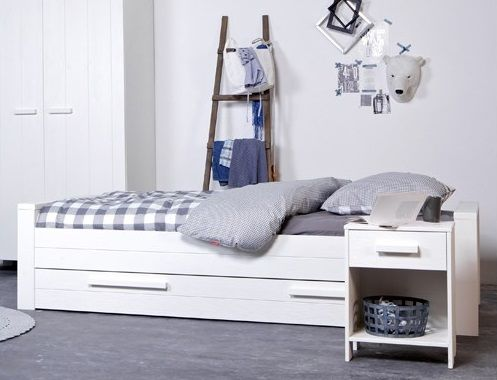 Dennis Single Bed with Trundle Drawer, by Wood