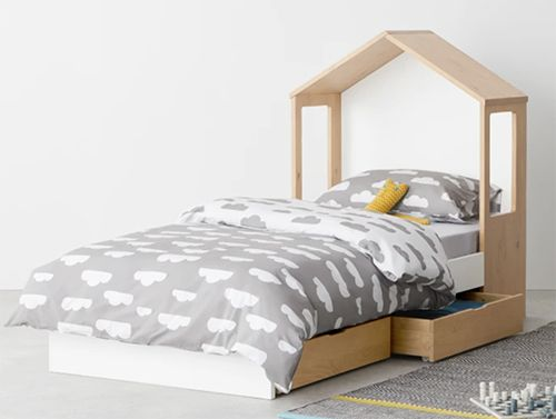 Skyline Single Bed with Storage Drawers