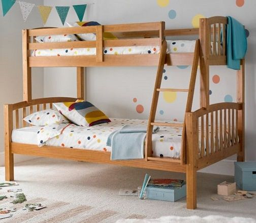 American Pine Wooden Triple Sleeper Bunk Bed Frame