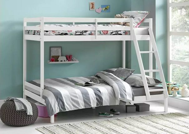 Argos Home Kaycie Triple Bunk Bed & 2 Kids Mattresses