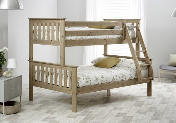 Carra Triple Sleeper Bunk Bed with Mattresses from Just Kids