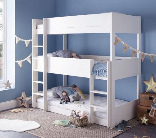 Snowdon White Wooden Triple Sleeper Bunk Bed