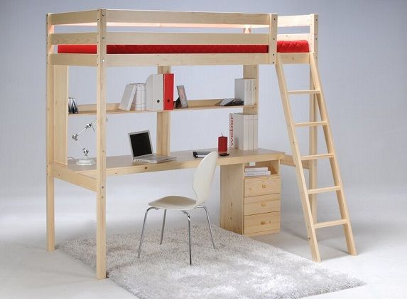 Adah High Sleeper Bed with Drawers and Shelves, by Harriet Bee