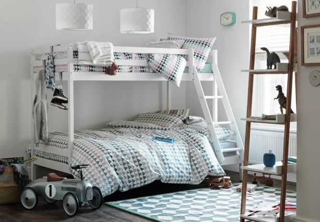 Argos Home Kaycie Triple Bunk Bed Frame (Single top Double bottom)