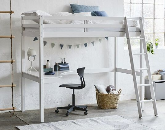 Brazil European Single High Sleeper Bed with Desk, by Isabelle & Max