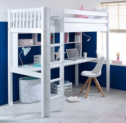 Flexa Nordic Kids High Sleeper with Desk Flexa Furniture