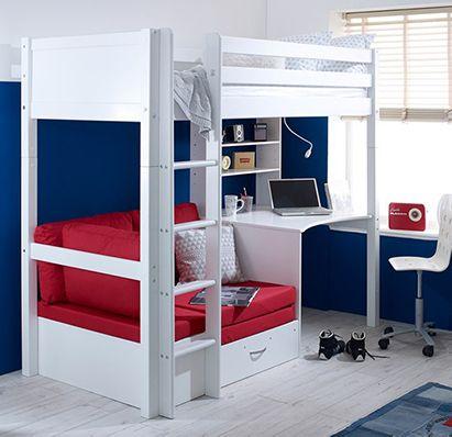 Nordic-High-Sleeper-with-Desk Sofa-Bed Flexa Furniture