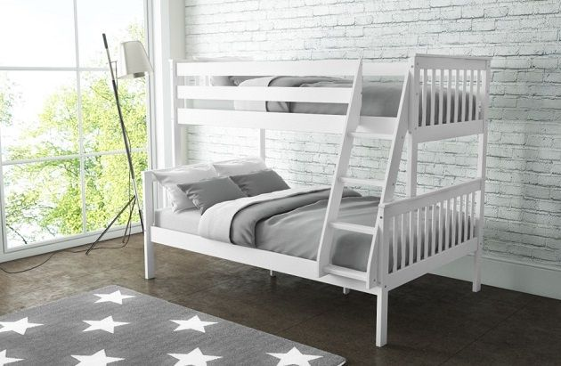 Oxford small double bunk bed in white