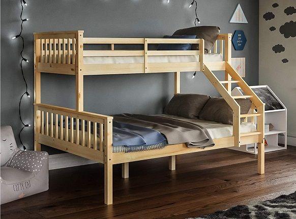 Vida Designs Milan Bunk Bed single on top of double