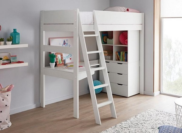 anderson high sleeper with desk and storage