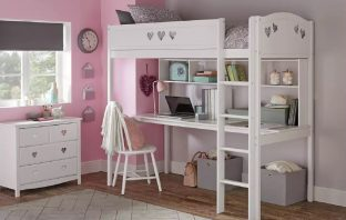 best high sleeper with desk mia by argos home