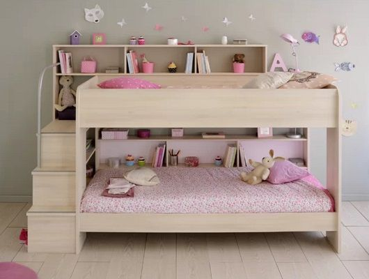 Ciara Bunk Bed, by Harriet Bee with shelves
