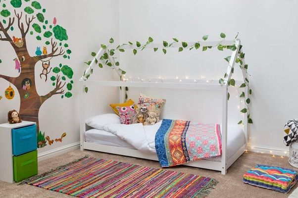 . Elisha and Kaylee House Style Wooden Kids Single Canopy Bed, by Harriet Bee