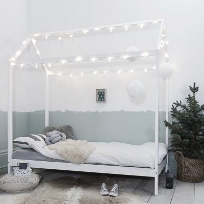 Jansen Scandinavian Single Bed Frame, by Noa and Nani