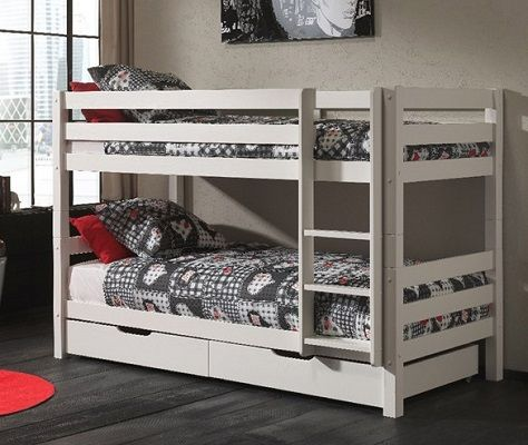 Pino-Childrens-Low-Bunk-Bed-with-Storage-Drawers