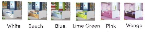 Caswell Cabin Bed White Pink Blue colour