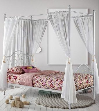Ballet Single Four Poster Bed