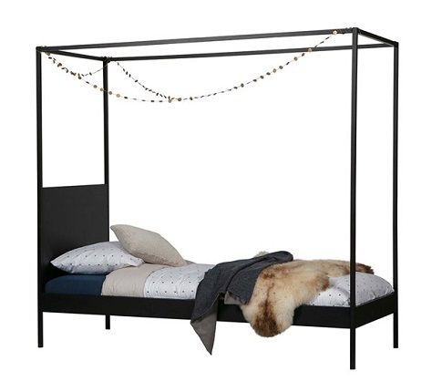 Baron Single Metal Four Poster Bed by Woood