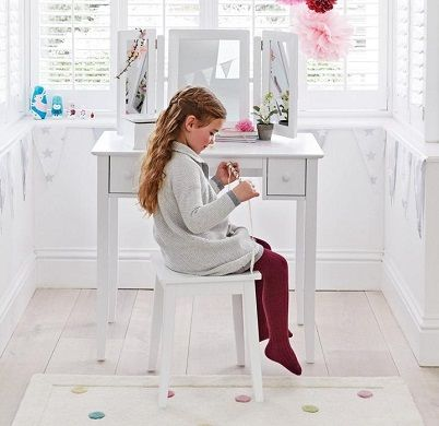 Charlotte Dressing Table & Stool Set