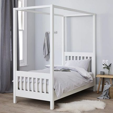 Classic Single Four Poster Bed the white company