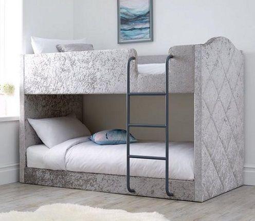 Mandarin Fabric Bunk Bed with Mattress Options