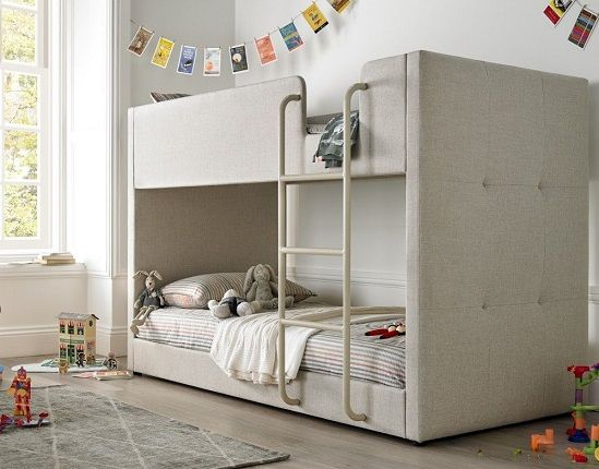 Saturn Fabric Bunk Bed (Oatmeal or Grey)