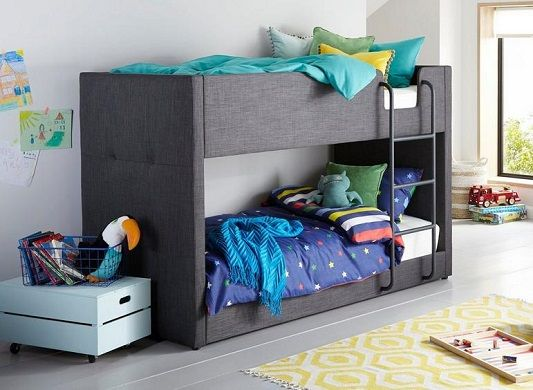 Willow Upholstered Fabric Bunk Bed
