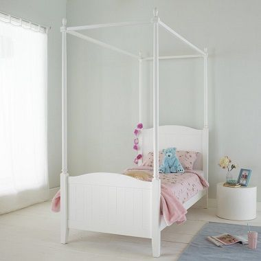 Woodcote Single Four Poster Bed Harriet Bee