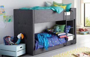 willow fabric upholstered bunk bed