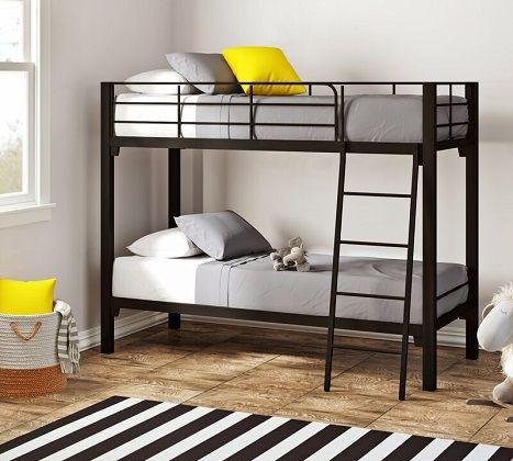 Alonzo Twin over Twin Metal Bunk Bed, by Brayden Studio