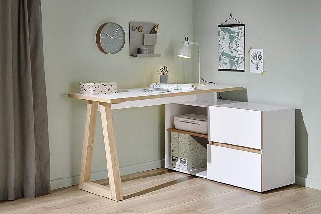 Amazon Brand - Movian Stanberg 2-Drawer Corner Desk