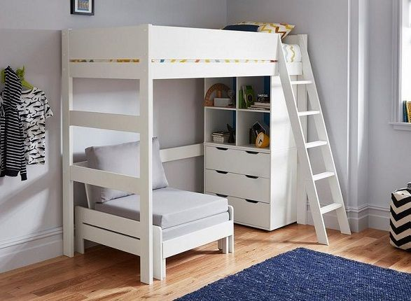 Anderson Bunk Bed With Silver Chair Bed, by Dreams