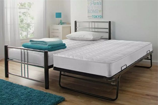Argos Home Atlas Single Metal Bed with Trundle