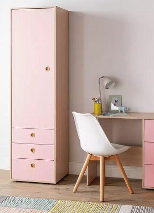 Argos Home Camden 1 Door 3 Drawer Pink Wardrobe